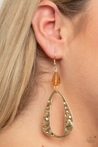 Enhanced Elegance - Gold Earrings Paparazzi Accessories New