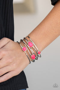 Fashion Frenzy - Pink Cuff Bracelet Paparazzi Accessories New