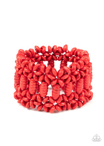 Fiji Flavor - Red Bracelet Paparazzi New