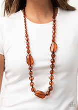 Load image into Gallery viewer, Malibu Masterpiece - Brown Necklace Paparazzi Accessories New