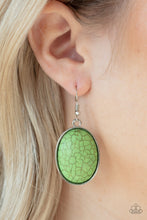 Load image into Gallery viewer, Paparazzi Serenely Sediment - Green Earrings