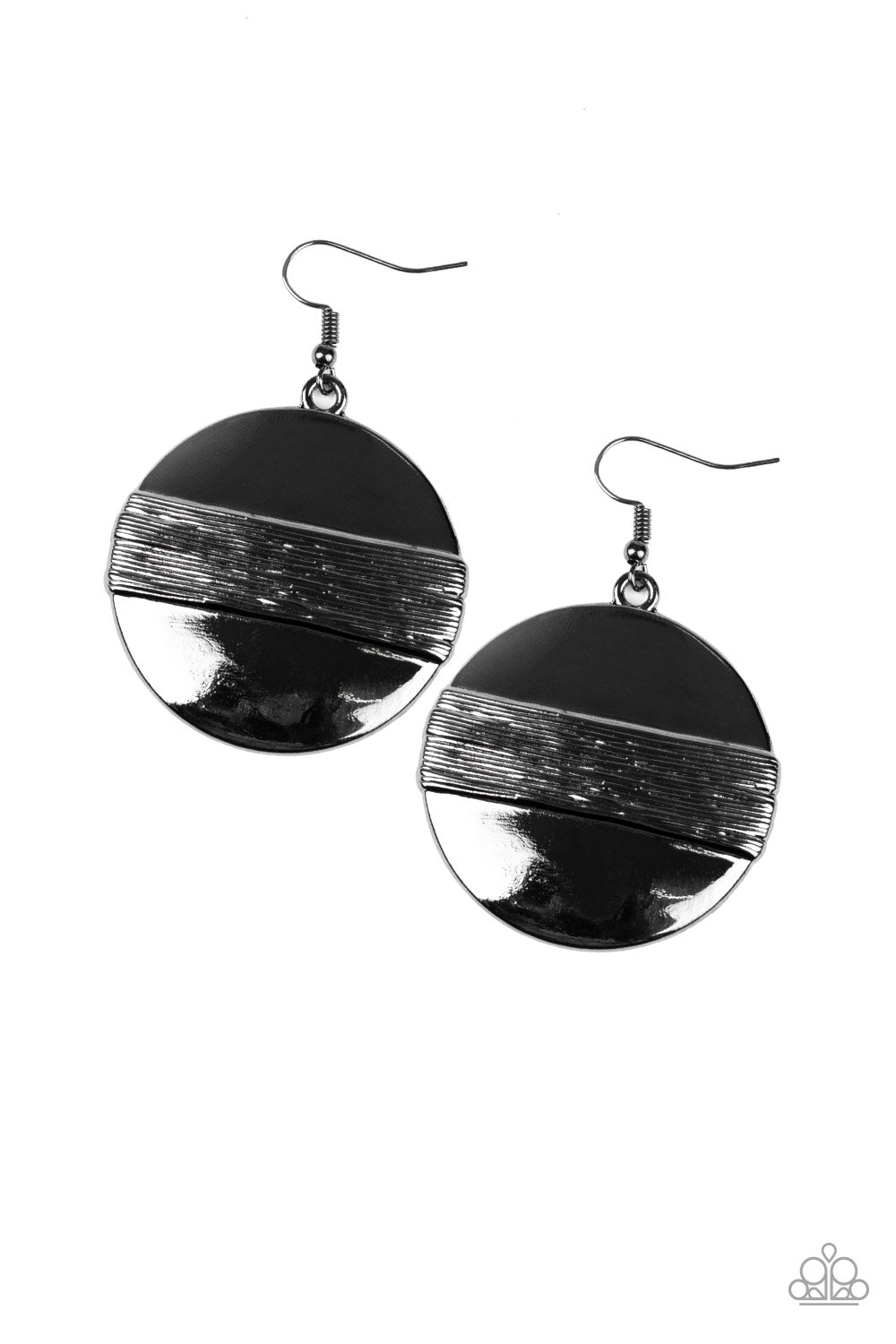 Ultra Uptown Black Gun Metal Earrings