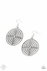 Totally on Target Silver Earrings