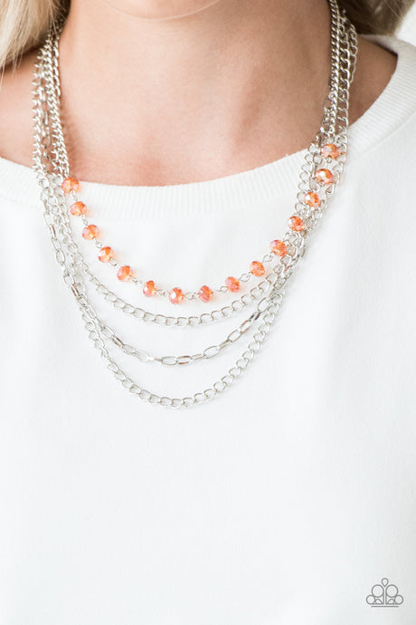 Extravagant Elegance - Orange Necklace  Paparazzi Accessories New