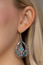 Load image into Gallery viewer, Paparazzi All Girl Glow Blue Earrings