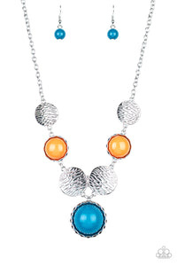 Paparazzi Bohemian Bombshell - Multi Colored Stones Necklace