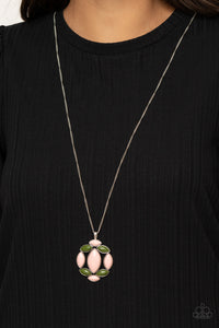 Chromatic Cache - Pink and Green Necklace Paparazzi Accessories New