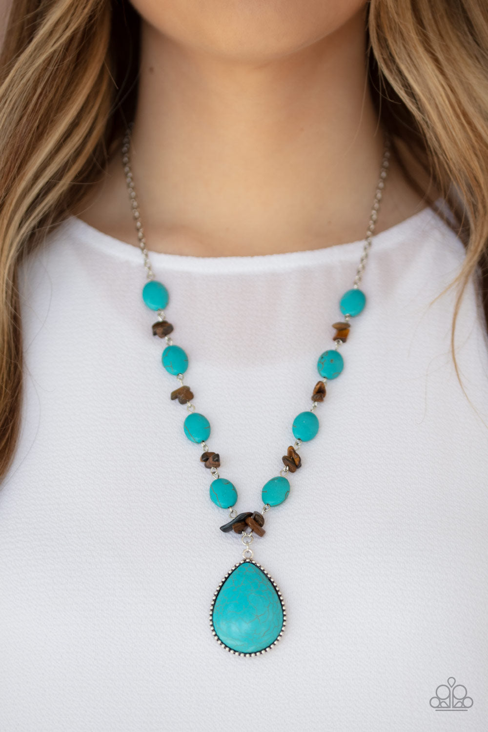 Paparazzi Desert Diva - Blue Necklace New