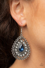 Load image into Gallery viewer, Paparazzi Eat, Drink, and BEAM Merry - Blue Earrings New