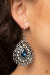 Paparazzi Eat, Drink, and BEAM Merry - Blue Earrings New