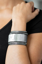 Load image into Gallery viewer, Paparazzi Heads or Mermaid Tails Silver Wrap Bracelet