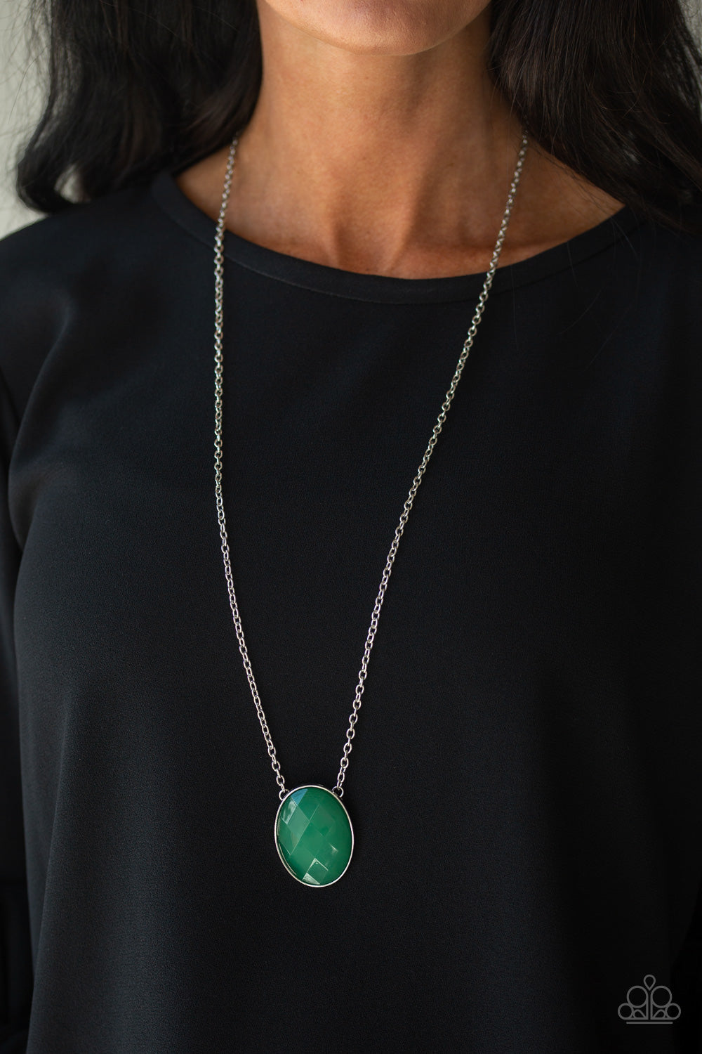 Paparazzi Intensely Illuminated - Green Necklace New