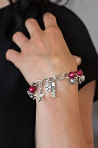 Lady Love Dove - Red Bracelet Paparazzi Accessories New