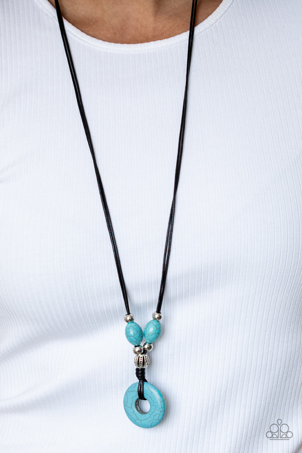 Middle Earth - Blue Urban Unisex Necklace Paparazzi Accessories New