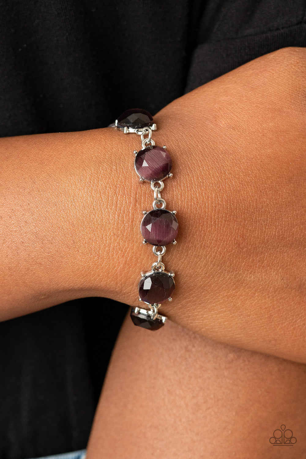 Ms. GLOW-It-All - Purple Bracelet Paparazzi Accessories New