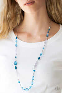 Quite Quintessence - Blue Necklace Paparazzi Accessories New