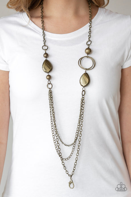 Rebels Have More Fun Brass Lanyard Necklace