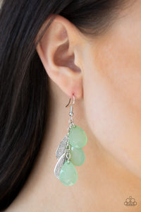 Paparazzi Seaside Stunner Green Earrings