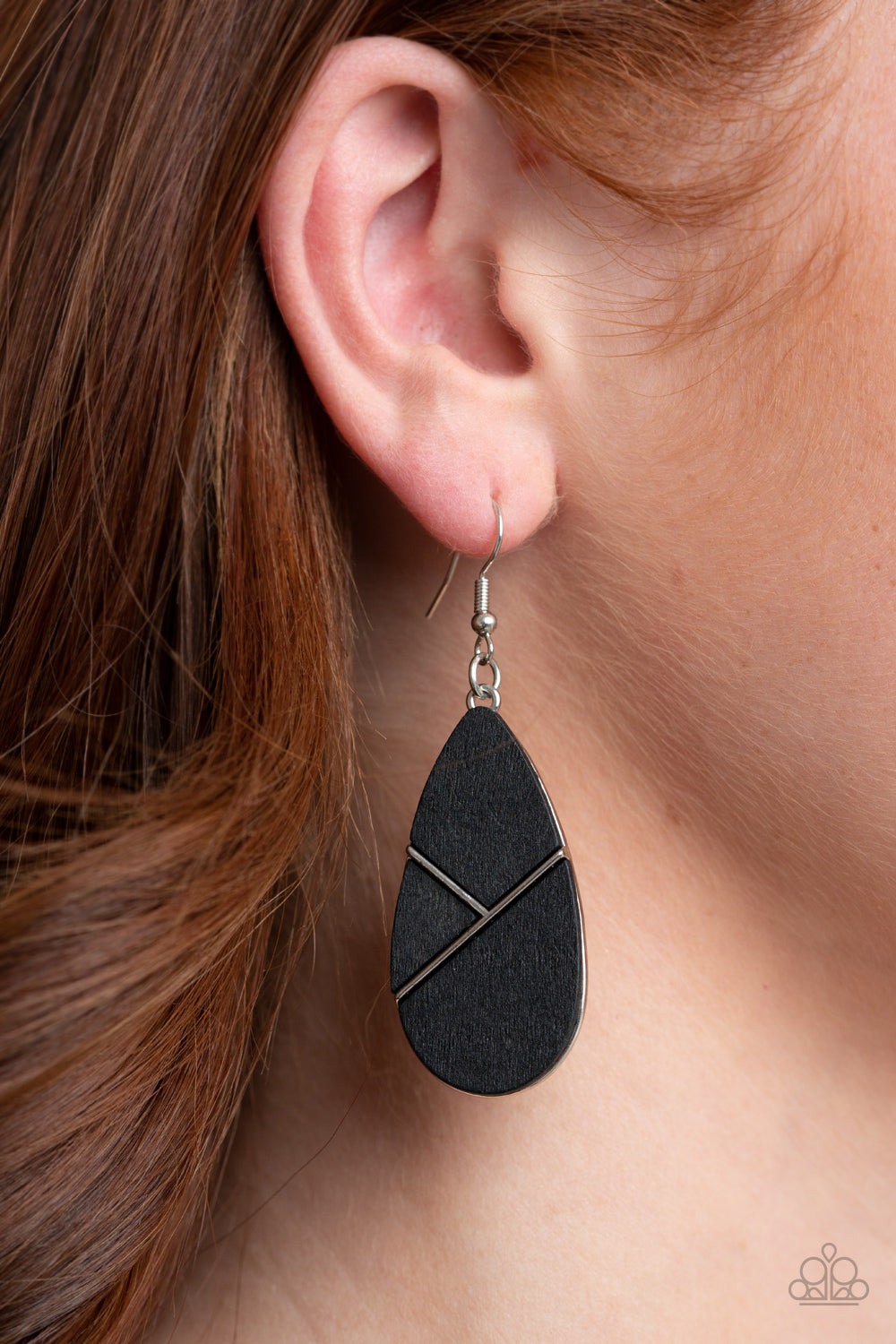 Sequoia Forest - Black Earrings Paparazzi Accessories New