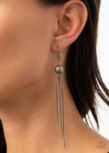 SLEEK-ing Revenge -Gunmetal  Black Earrings Paparazzi Accessories New