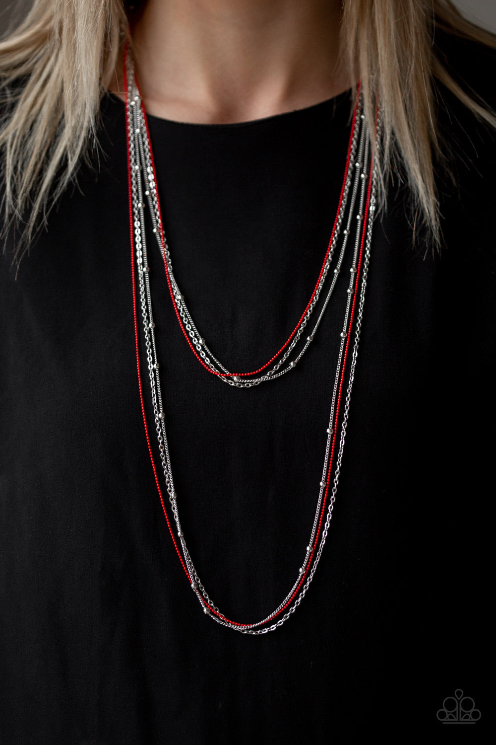 What a  Colorful World Red Necklace