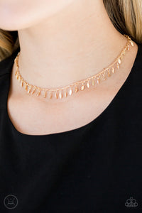 PURR-fect Ten - Gold CHOKER Necklace Paparazzi Accessories New
