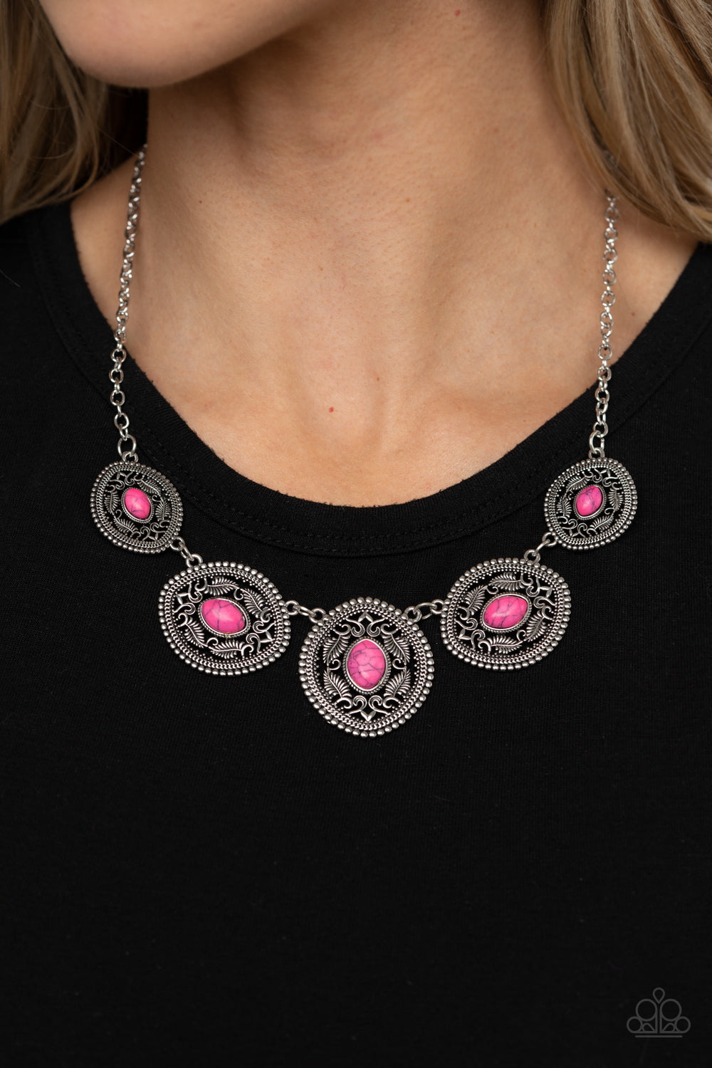 Alter ECO - Pink Necklace Paparazzi Accessories New
