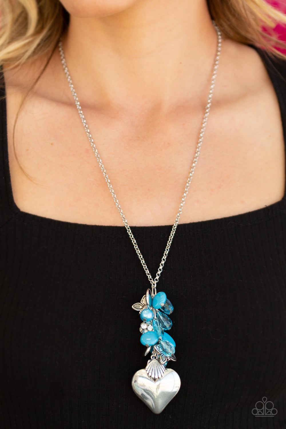 Paparazzi Beach Buzz - Blue Necklace with Charms