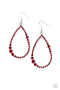 Paparazzi Diva Dimension Red Earrings New