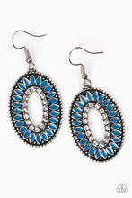 Load image into Gallery viewer, Fishing For Fabulous - Blue Earrings Paparazzi Accessories New