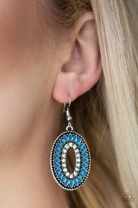 Fishing For Fabulous - Blue Earrings Paparazzi Accessories New