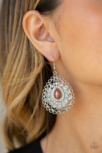 Load image into Gallery viewer, Paparazzi Glamour Brown Earrings