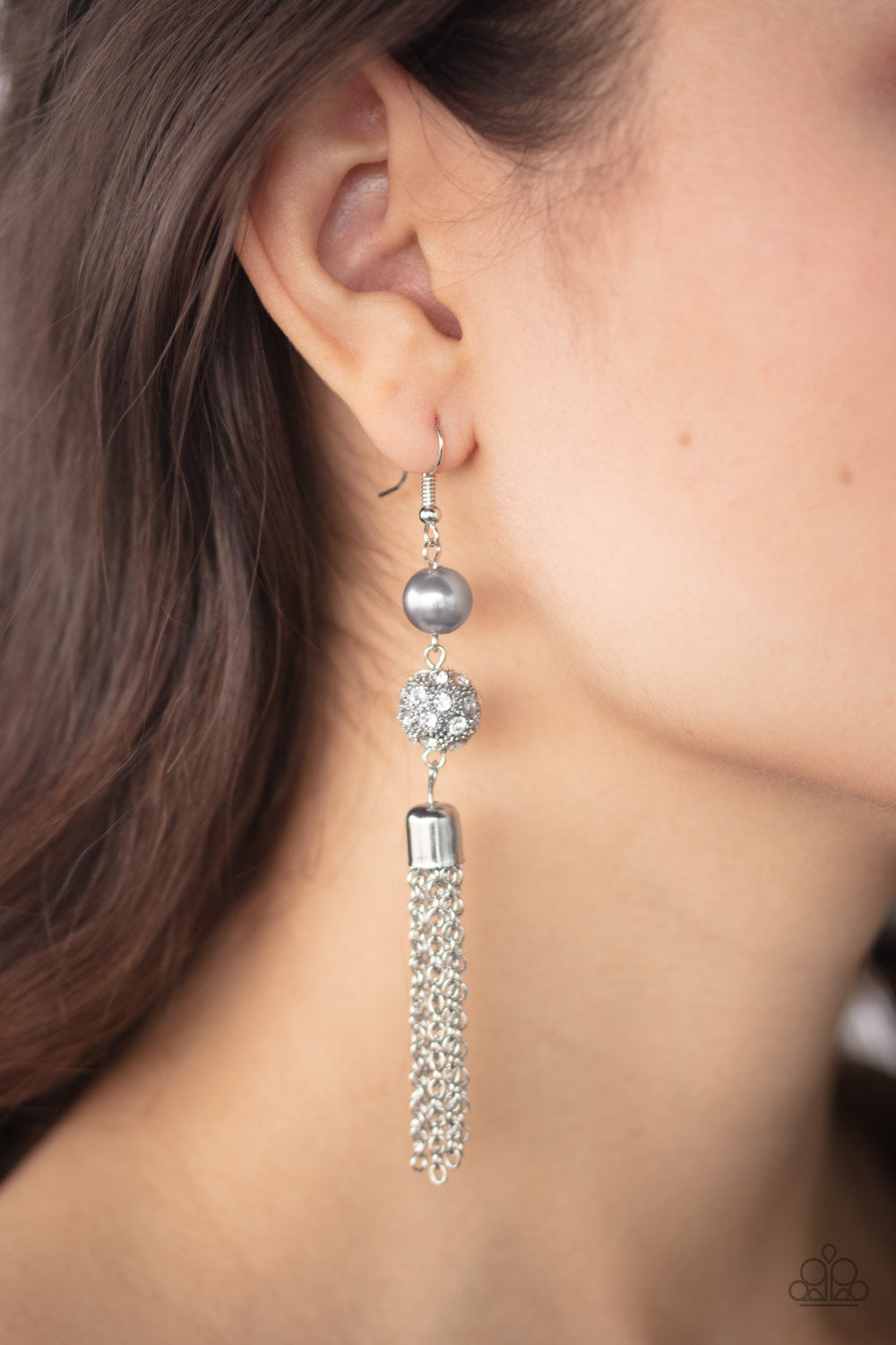 Paparazzi High Roller Radiance - Silver Earrings