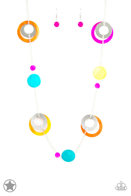Kaleidoscopically Captivating Acrylic Multi Necklace Blockbuster