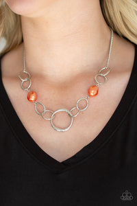 Lead Role - Orange Necklace Paparazzi Accessories New