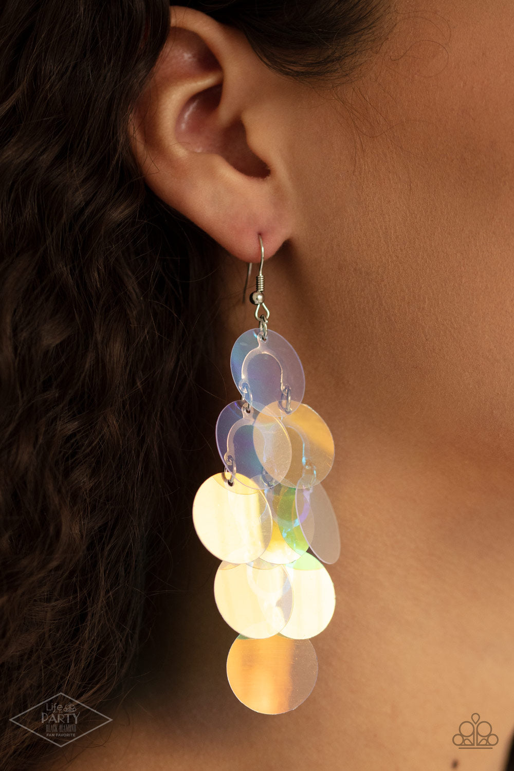 Mermaid Shimmer - Multi Colored  Earrings Paparazzi New
