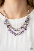 Load image into Gallery viewer, Pebble pioneer Purple Necklace