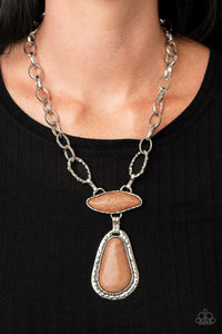 Rural Rapture - Brown Necklace Paparazzi Accessories New