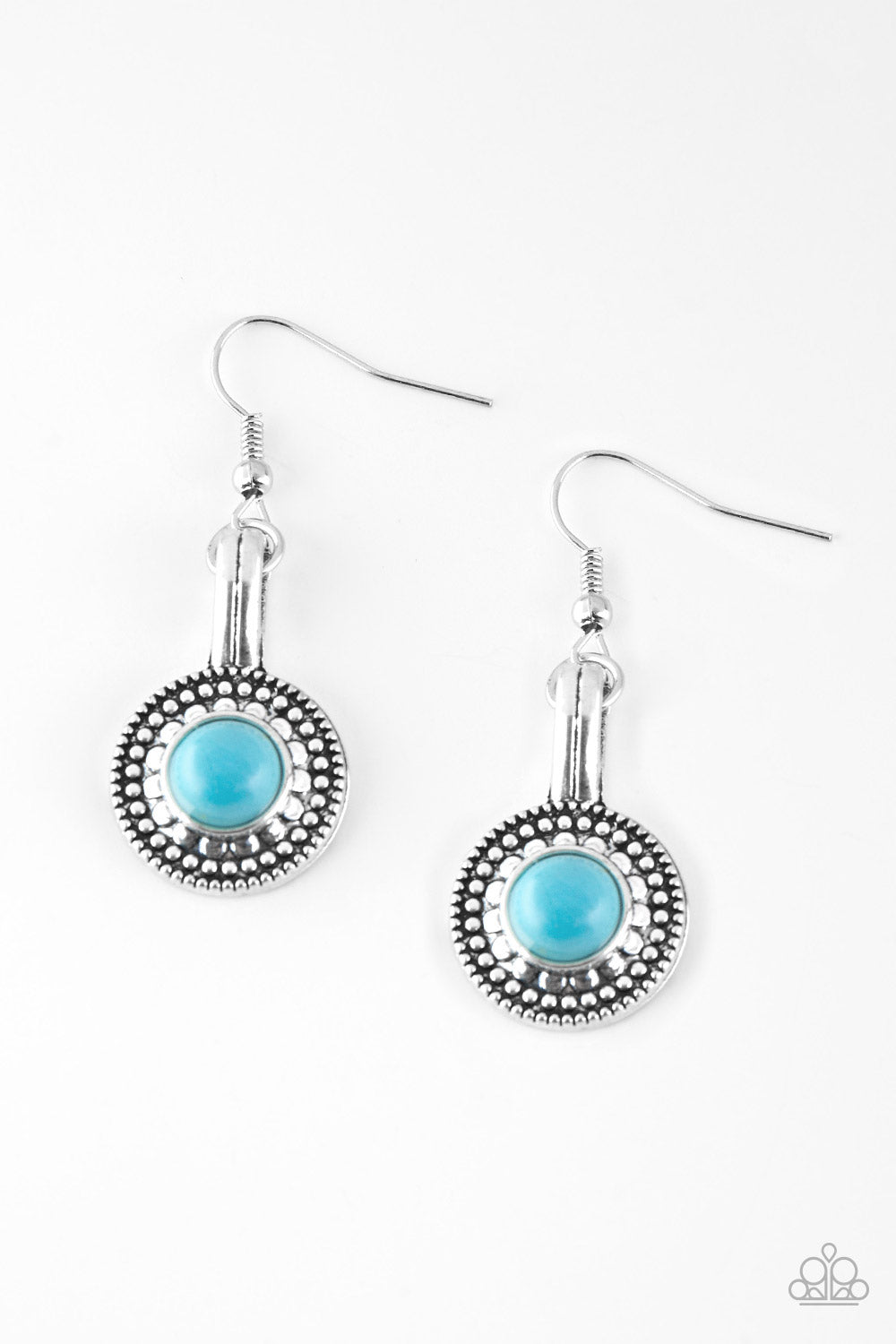 Paparazzi Simply Stagecoach Blue Earrings