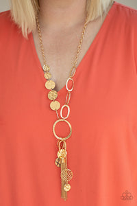 Paparazzi Trinket Trend - Gold Necklace with cute charms