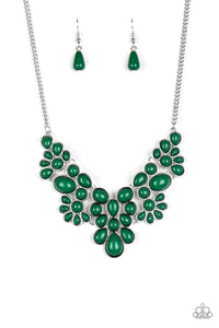 Bohemian Banquet - Green Necklace Paparazzi Accessories New