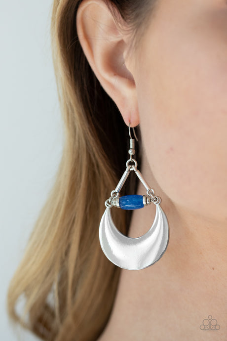 Mystical Moonbeams - Blue Earrings  Paparazzi Accessories New