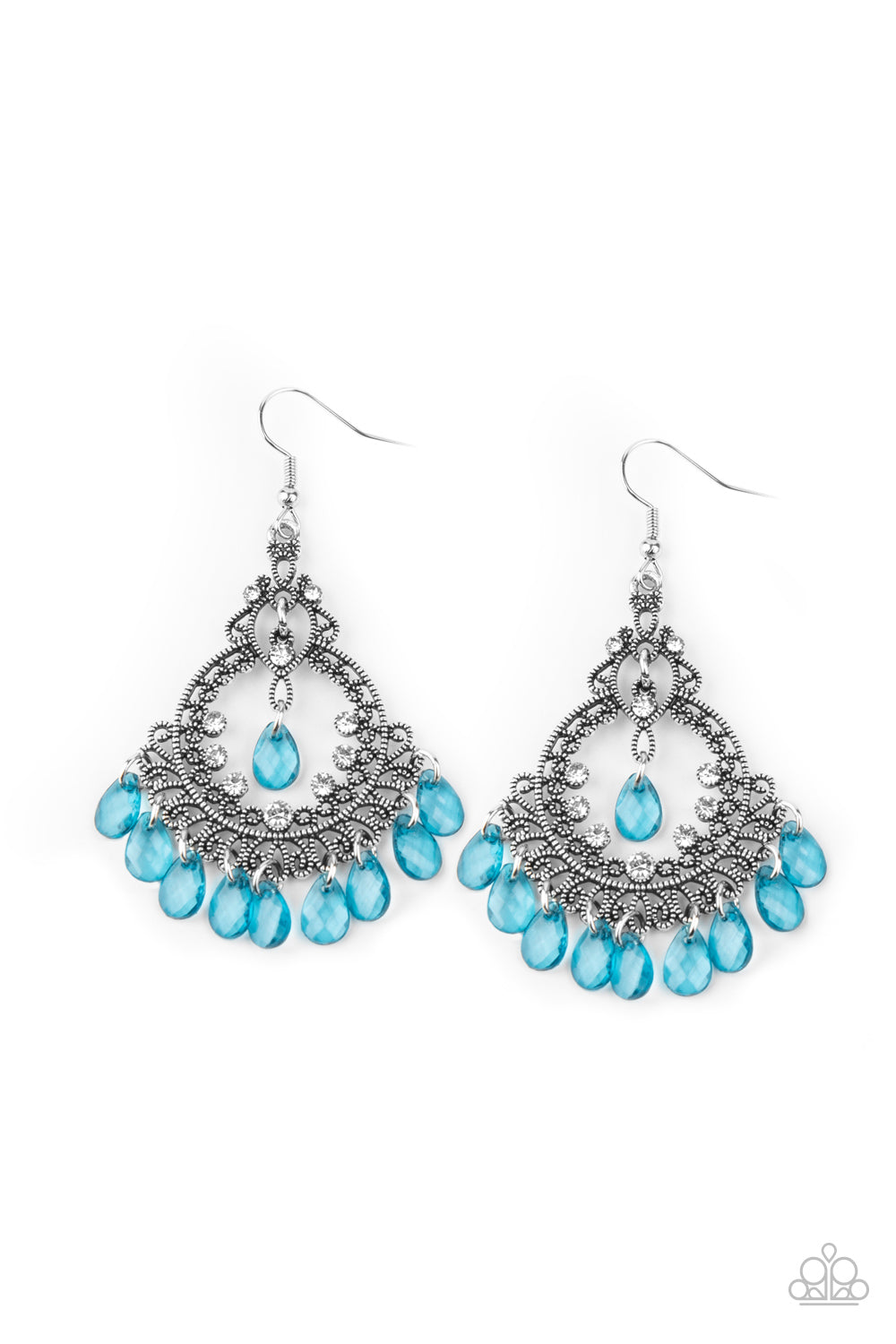 Lyrical Luster - Blue Earrings Paparazzi Accessories New