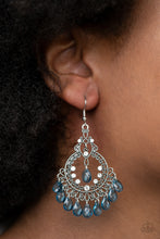 Load image into Gallery viewer, Lyrical Luster - Blue Earrings Paparazzi Accessories New