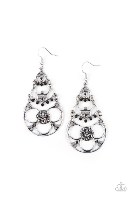 Garden Melody - Black Earrings Paparazzi Accessories New