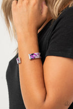 Load image into Gallery viewer, Its Getting HAUTE In Here - Purple Acrylic Cuff Bracelet Paparazzi Accessories New