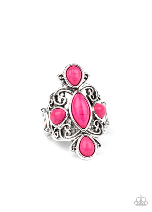 Sahara Sweetheart - Pink Ring Paparazzi Accessories New