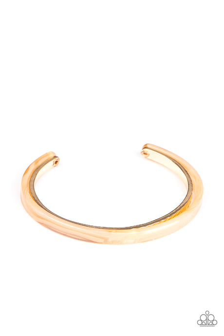 HAUTE On The Trail - Gold Cuff Bracelet Paparazzi Accessories New
