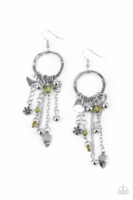 Charm School - Green earrings Paparazzi Accessories New