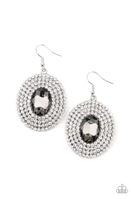 FIERCE Field - Silver Earrings  Paparazzi Accessories New